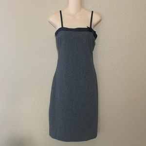 Theory Wool Blend midi dress with bow